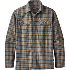 Patagonia Fjord overhemd en blouse lange mouwen Heren beige/petrol